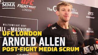 Arnold Allen Praises 'Hero' Father Following UFC London Win - MMA Fighting