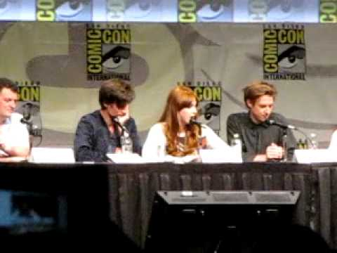 Karen Gillan and Arthur Darvill Imitate Each Other at SDCC 2012