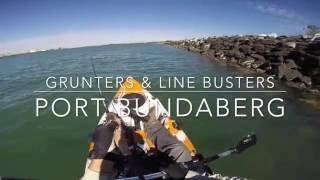 Grunters and Line Busters! Fishing Port Bundaberg on Dragon Kayak