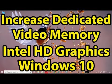 Increase Dedicated Video Memory on your Intel HD Graphics Card Using Registry Editor || Windows 10