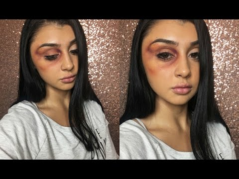 Easy Bruised Eye Halloween Makeup