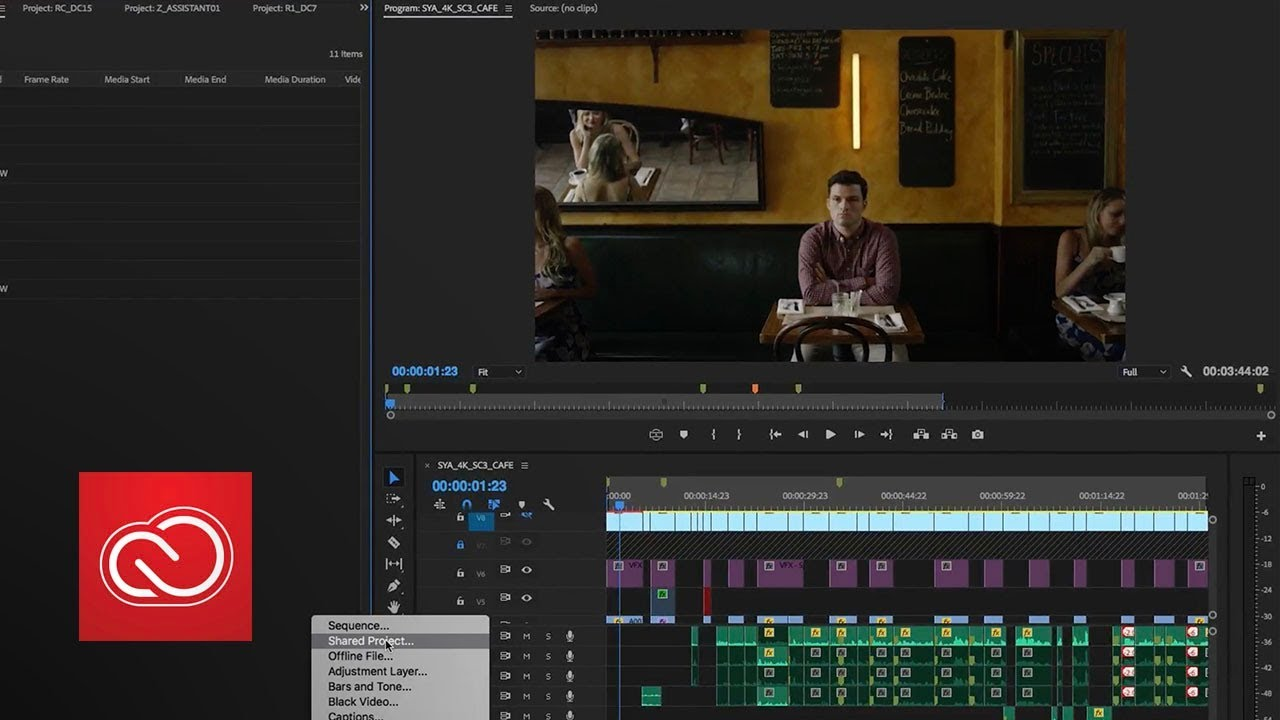 Shared Projects In Premiere Pro October 2017 Adobe Creative
