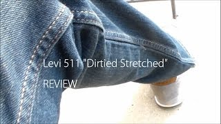 pick up levi 511 jeans dirtied stretch review