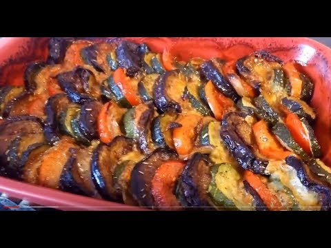 légumes-rissolés-courgette/aubergine/tomate/-mozzarella/oignon