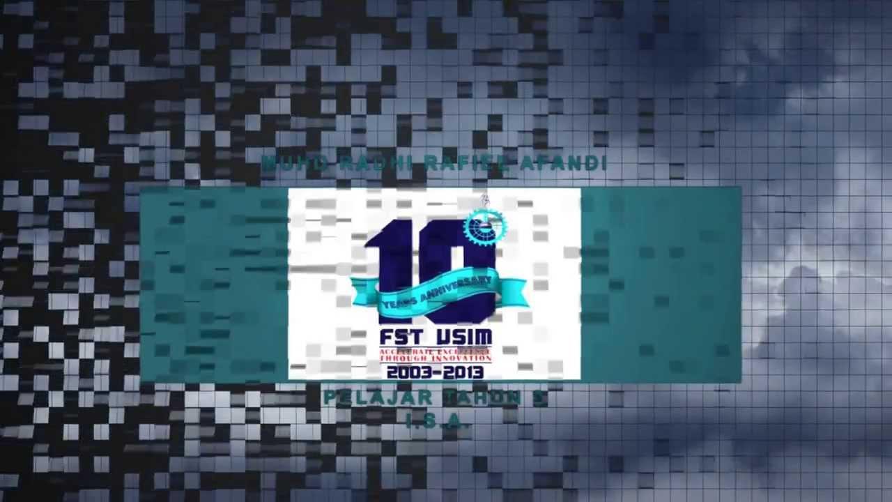 montaj perasmian sempena logo 10 tahun fst youtube