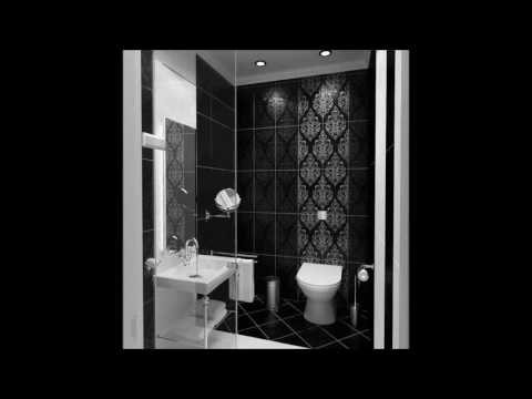 Modern Luxury Bathroom In Black And White Color