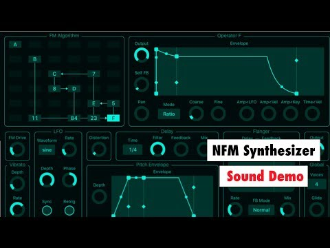 NFM Synthesizer Sound Demo - 6 Operators AUv3 FM Synth