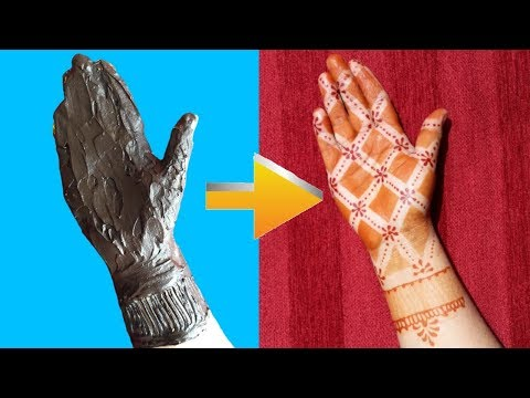 How to Apply Easy Full hand Mehndi Design with Cello Tape|| mehendi design front hand