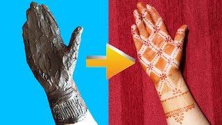 vuclip How to Apply Easy Full hand Mehndi Design with Cello Tape   mehendi design front hand