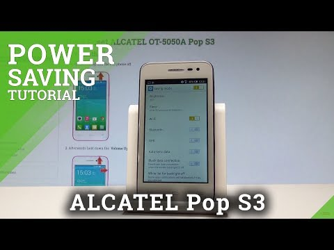 How to Save Battery in ALCATEL Pop S3 - Power Saving Mode |HardReset.Info