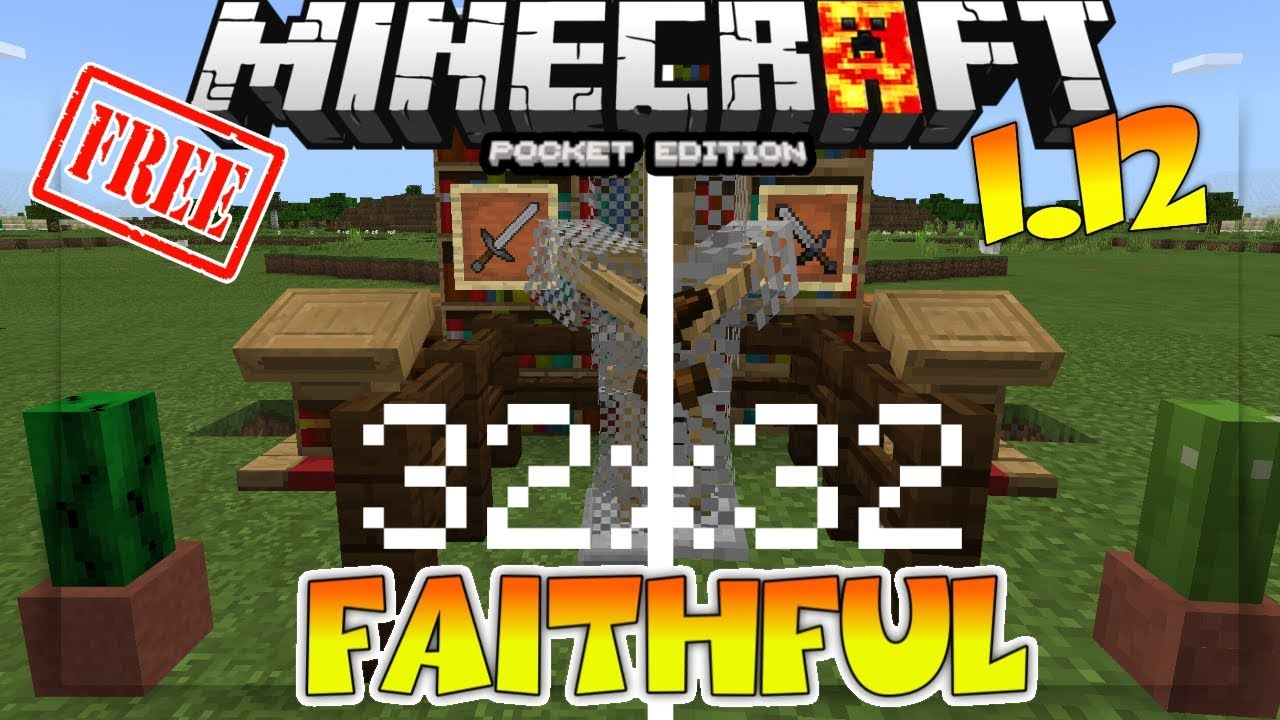 MCPE 1 11 FAITHFUL TEXTURE PACK DOWNLOAD - HOW TO GET FAITHFUL TEXTURE PACK  FOR MINECRAFT PE FREE