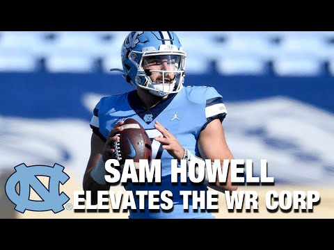 Sam Howell Elevates Receiving Corps In UNC Spring Game