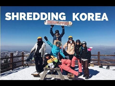 Snowboarding in Pyeongchang, Korea (Travel Asia)