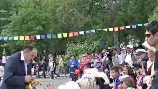 Демонстрация башкирских национальных блюд.