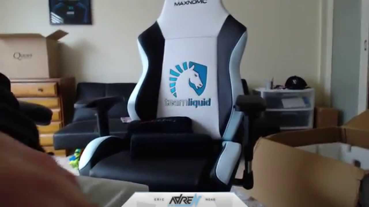 red gaming chair nightstand cs:go pro adren vlog - team liquid needforseat! youtube
