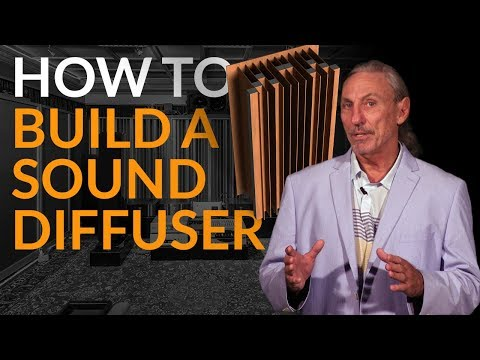 How To Build A Sound Diffuser - www.AcousticFields.com