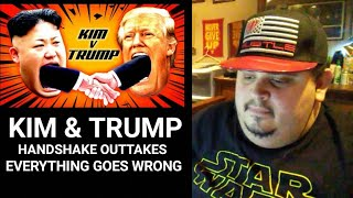 KIM & TRUMP HANDSHAKE OUTTAKES - EVERYTHING GOES WRONG ( REACTION!!! )