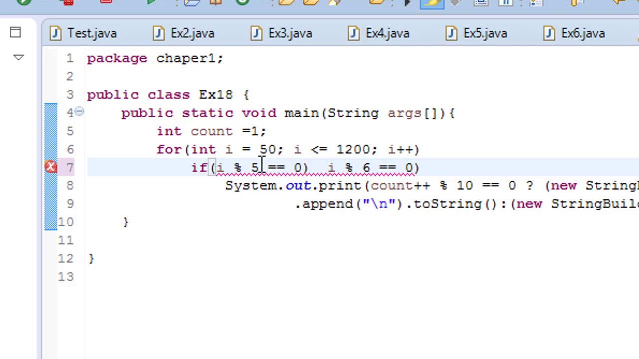 Java for loop 50 to 1000 and print number divisible by 5 but not 6 #19