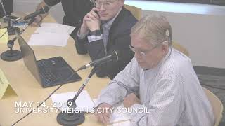 University Heights City Council Meeting of 05/14/19