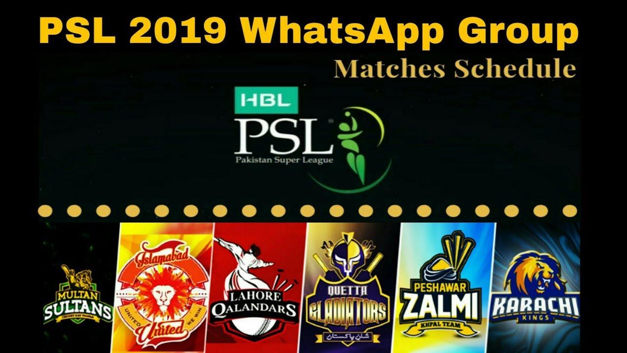 HBL PSL 2019 Offical WhatsApp Group Ball by Ball Update & information ||  PSL 4