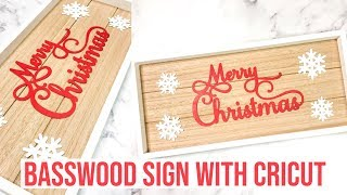CRICUT MAKER BASSWOOD SIGN |12TH DAY OF CRAFTMAS