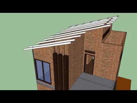 desain rumah minimalis murah 2 lantai // 6x7 - youtube