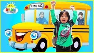 The Wheels on the Bus Nursery Rhymes Songs for Children with Ryan ToysReview
