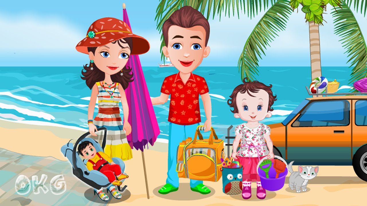 Beach Party - Funny Baby Lisi Sun Holiday Bath Brother Jo Game For ...