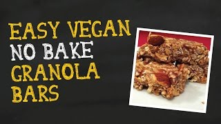 Meet The Husband As He Demo's Easy Vegan 5 Ingredient Granola Bars!