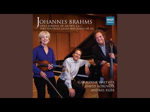 Trio In A Minor For Viola, Violoncello and Piano, Op. 114: I. Allegro. Poco meno allegro