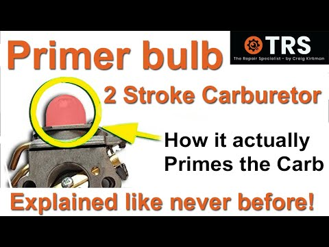 How a Primer Bulb works/Two Stroke Cycle Carburettor/Chainsaw/Ryobi/Homelite/Zama/
