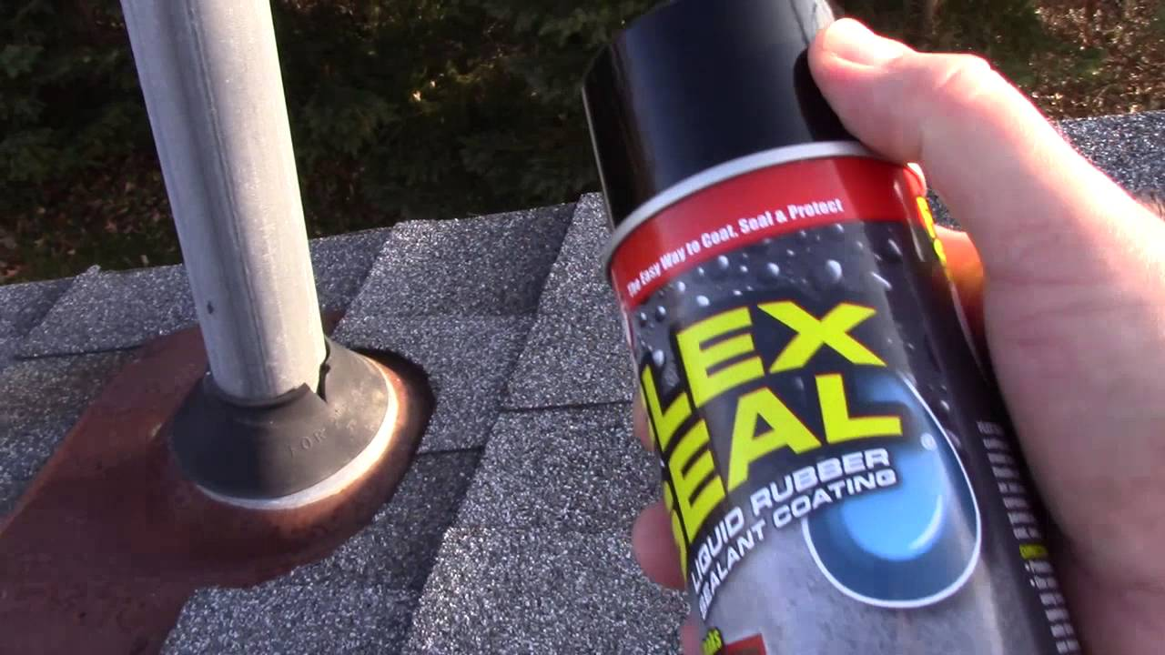 Using Flex Seal (as seen on TV) to prevent a roof leak