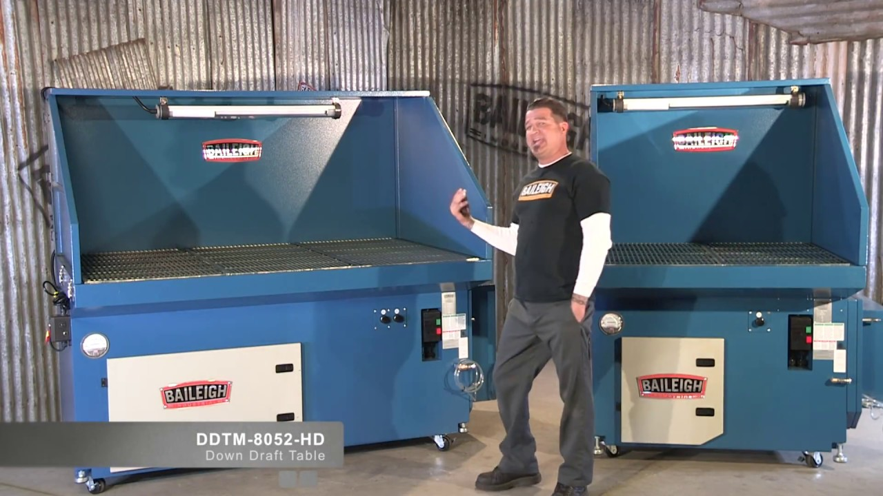 Baileigh Industrial Ddtm 4840 And 8052 Hd Metalworking Down Draft Tables