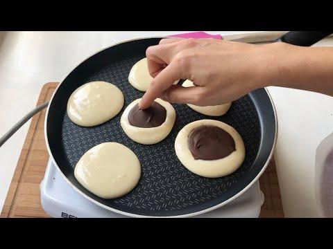 Cikolatali sünger pankek tarifi 👌🏼 Kahvaltıya mutlaka deneyin ✅