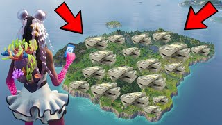 COVERING THE ENTIRE FORTNITE CREATIVE MAP WITH STACKS OF MONEY ! NEVER BEEN DONE BEFORE...
