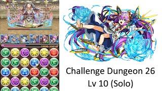 puzzle dragons challenge dungeon 26 lv 10 solo awoken lakshmi