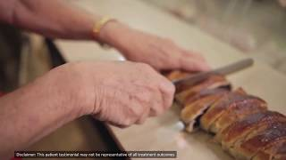 Patient Testimonial: Haya working in her bakery without essential tremor