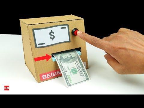 How to Make a Electric Money Printer Machine - DIY Magic Trick