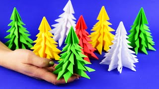 How to make 3D paper Christmas tree 5 minutes craft  DIY Tutorial