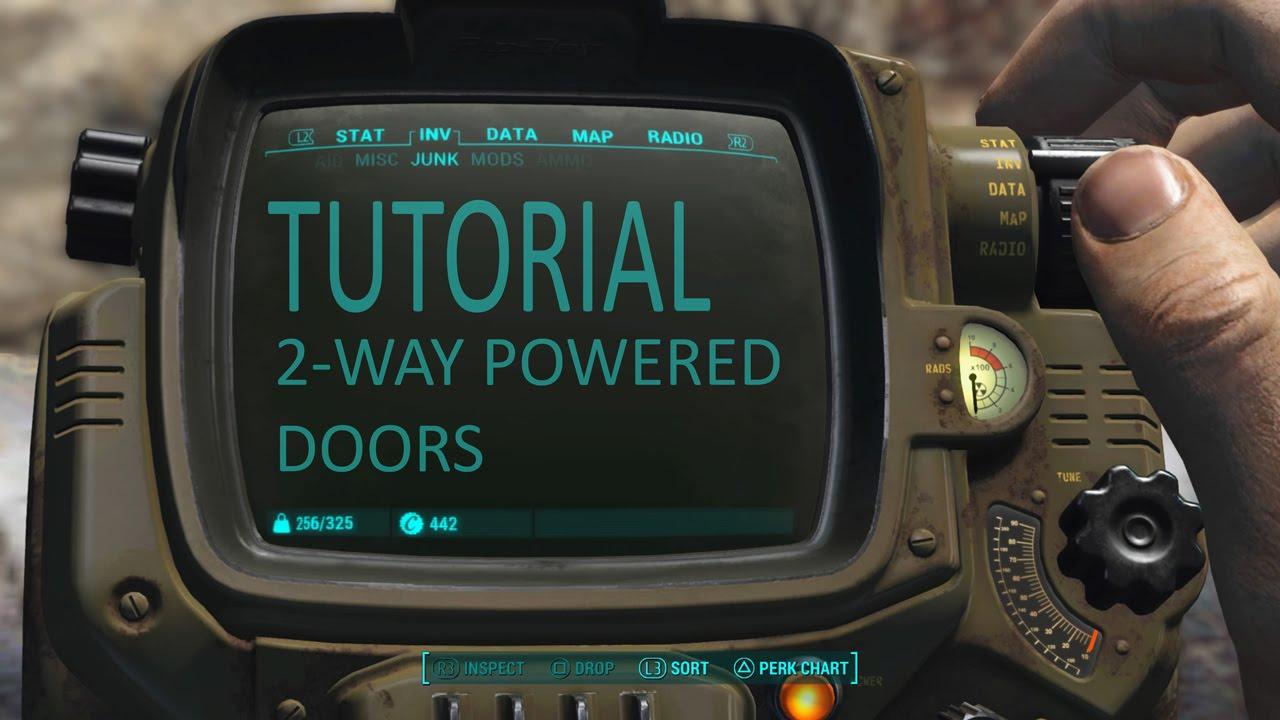 & Fallout 4 Tutorial: 2-way powered doors (using logic gates). - YouTube
