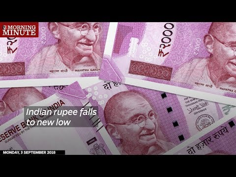 Indian rupee falls to new low