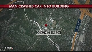 Man crashes car into restaurant building(A man has died Saturday morning after crashing into a Domino's Pizza in North Austin., 2016-07-10T18:42:21.000Z)