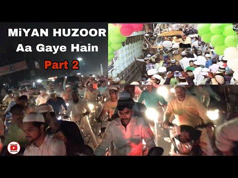 Peero Murshid Hazrat Shah Saqlain Miyan Huzoor  ki Umrah  wapsi par zordar Istaqbal Bareilly mein.