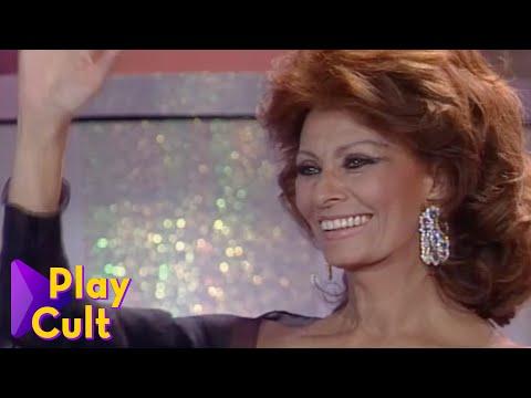 Sophia Loren e Marcello Mastroianni ai telegatti   Mediaset Play Cult