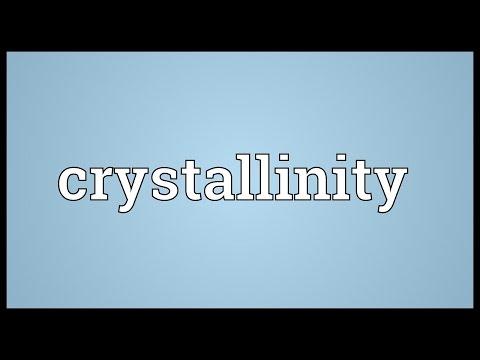Header of crystallinity