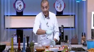 لقمة هنية  وجبة الخميس - الفته ال Light بالموز- سمان مشوى بالبصل