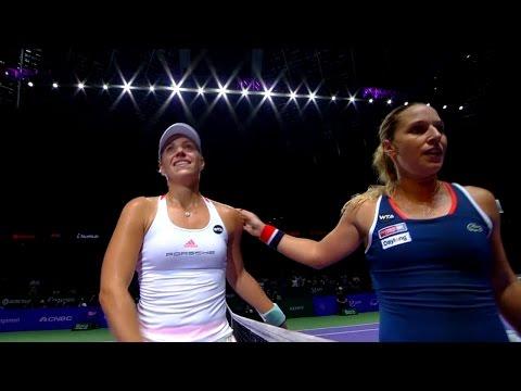 Angelique Kerber vs Dominika Cibulkova | 2016 WTA Finals Singapore Highlights