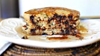 Basil & Chocolate Chip Ricotta Pancakes