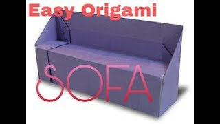 How to make a paper sofa origami easy