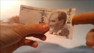 Five turkish lira note - Design and secutity features
